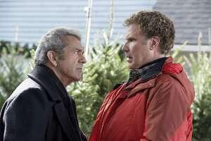"Mel Gibson (left) instills Christmas fear in Will Ferrell in ""Daddy's Home 2."""