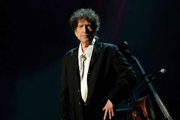 Bob Dylan NOT pictured at the Smart Financial Centre in Sugar Land on OCt. 14. Dylan didn't allow photographers at the show. And cell phone pics were also prohibited. So here is is at the MusiCares 2015 Person Of The Year Gala.    (Photo by Michael Kovac/WireImage)
