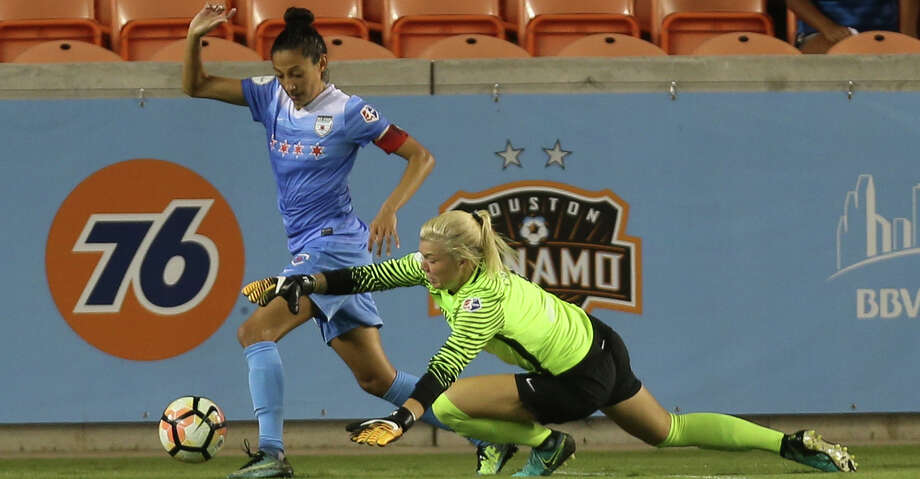 It is likely that two Dash players - forward Christen Press and goalkeeper Jane Campbell - will be called into the national team for the game against Mexico. Photo: Yi-Chin Lee/Houston Chronicle