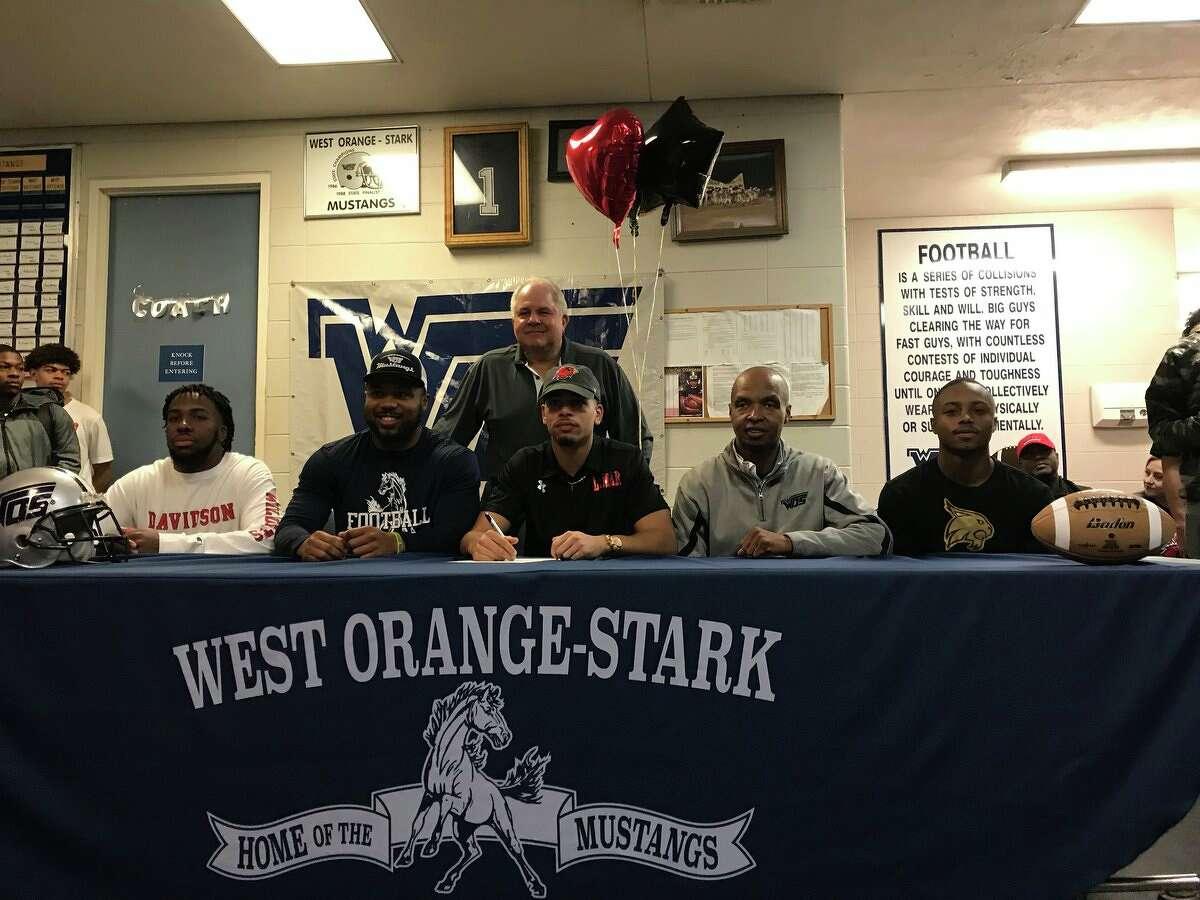 West Orange-Stark football players on National Signing Day. Kim Brent/BeaumontEnterprise