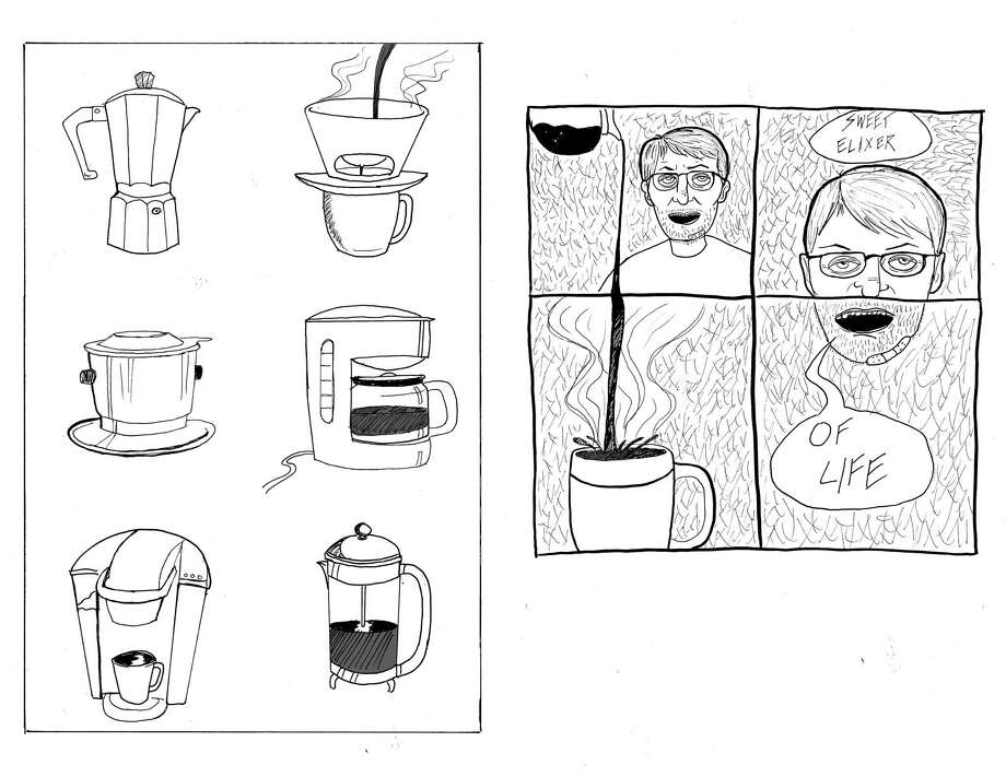 "A selection from Zach Dubuisson's mini comic, ""Coffee Comics."" Photo courtesy of Zach Dubuisson Photo: Photo Courtesy Of Zach Dubuisson"