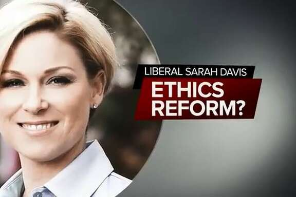 Rep. Sarah Davis, a West University Place Republican, continues to catch heat from Gov. Greg Abbott. His latest ad against her accuses her of bottling up an ethics bill out of spite.