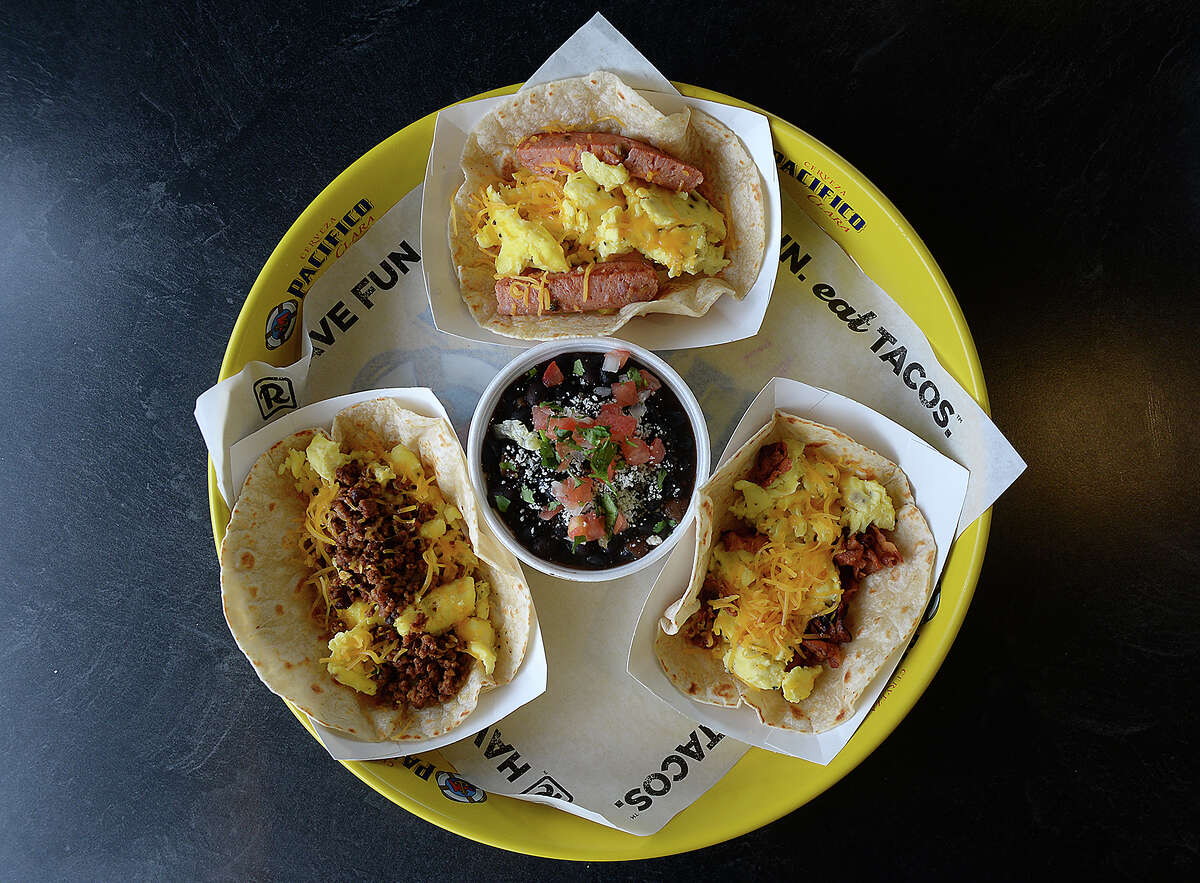 Breakfast tacos are among the featured items at R Taco on Dowlen Road in Beaumont. Photo taken Tuesday, February 6, 2018 Kim Brent/The Enterprise