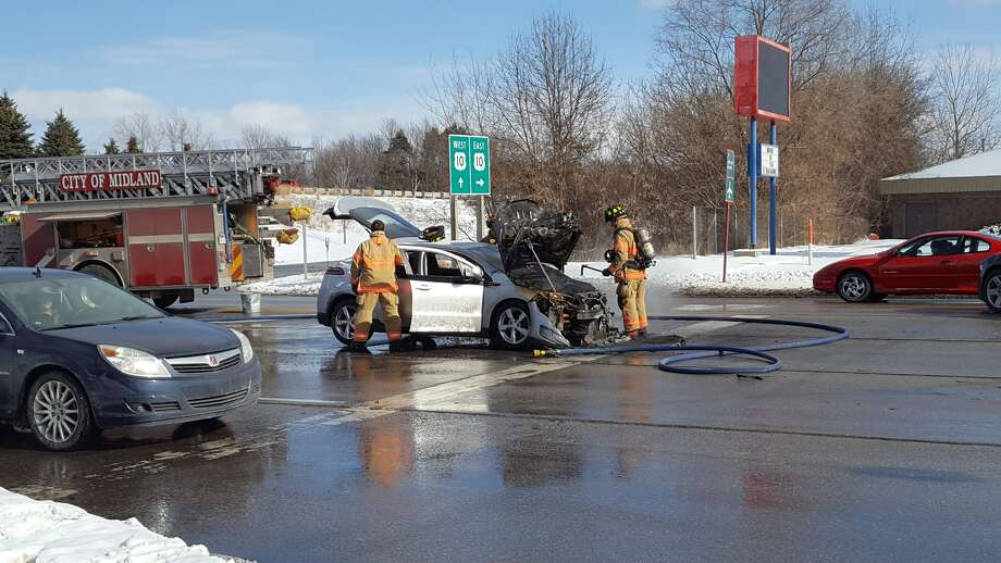 No one was hurt in a Wednesday afternoon car fire on Eastman Avenue.