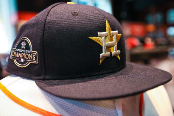 The Houston Astros will wear these special championship-themed jerseys for their first two home games of the season on April 2 and April 3 to celebrate last year's World Series.