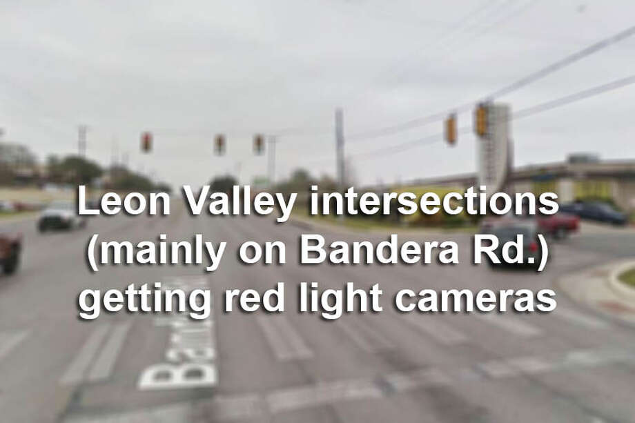 Leon Valley saw 1,111 crashes from December 2015 to February 2017 on  Bandera Road, and began the activation of nine red light camera devices  (mainly along Bandera) in January 2018. Click through to see which intersections are being targeted. Photo: Google Street View