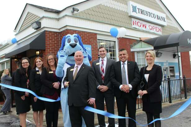 Trustco Bank opened its first branch in Putnam County in December in Mahopac. The local chamber of commerce held this ribbon cutting.