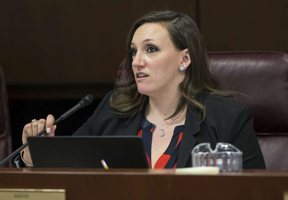 Republicans gathered enough signatures to launch recall elections of two Democrats, including state Sen. Nicole Cannizzaro of Las Vegas. Photo: Benjamin Hager, Associated Press