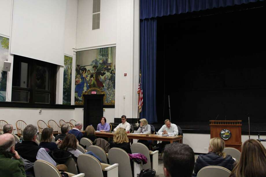 Members from the RTM Public Works, Budget & Finance and Parks and Recreation Committees meet at Darien Town Hall on Tuesday. Photo: Humberto J. Rocha / Hearst Connecticut Media / Darien News
