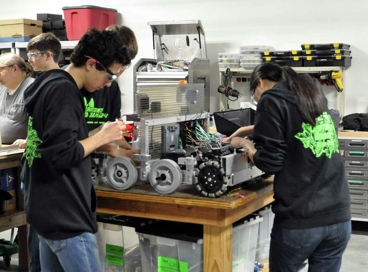 Students like these fromCinco Ranch High School may be better prepared for jobs in the future that will require backgrounds in science, technology, engineering and mathematics. People who are poorly educated or inflexible, will suffer, experts believe. Students like these fromCinco Ranch High School may be better prepared for jobs in the future that will require backgrounds in science, technology, engineering and mathematics. People who are poorly educated or inflexible, will suffer, experts believe.
