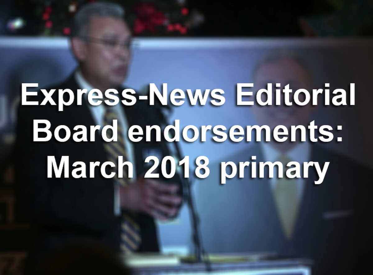 Click through the slides to learn more about the Bexar County candidates for the 2018 Republican and Democratic primaries endorsed by the San Antonio Express-News Editorial Board.