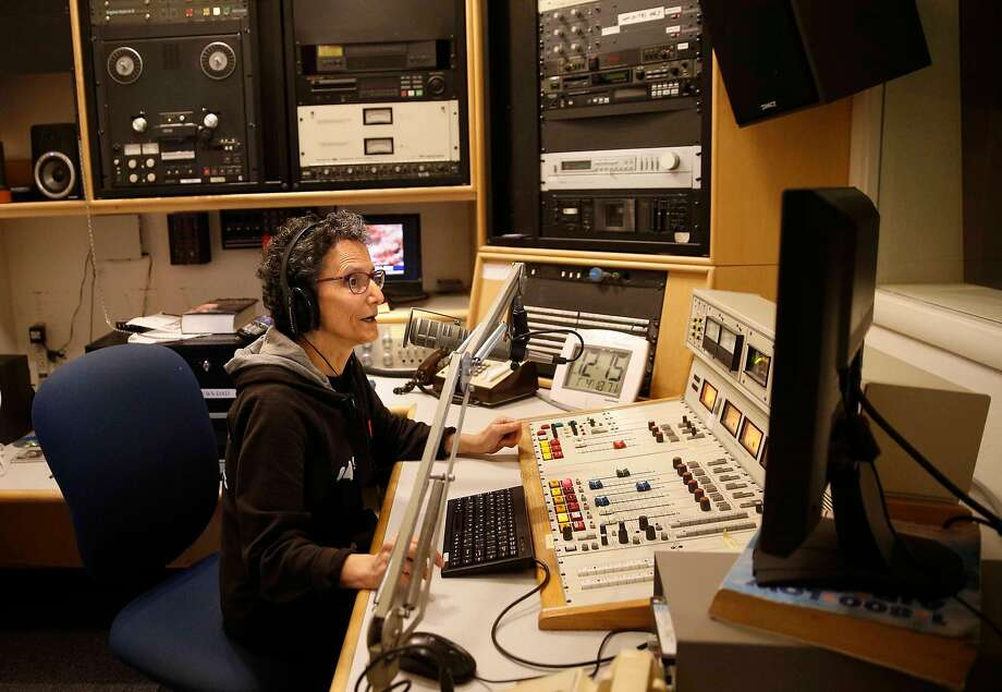 Aileen Alfandary is co-director of the news department at KPFA, which was in danger of going off the air last month. Photo: Michael Macor, The Chronicle