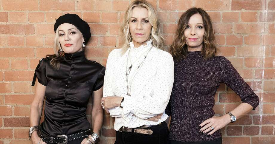 Bananarama's Siobhan Fahey (left) has rejoined original bandmates Sara Dallin and Keren Woodward. Photo: AP
