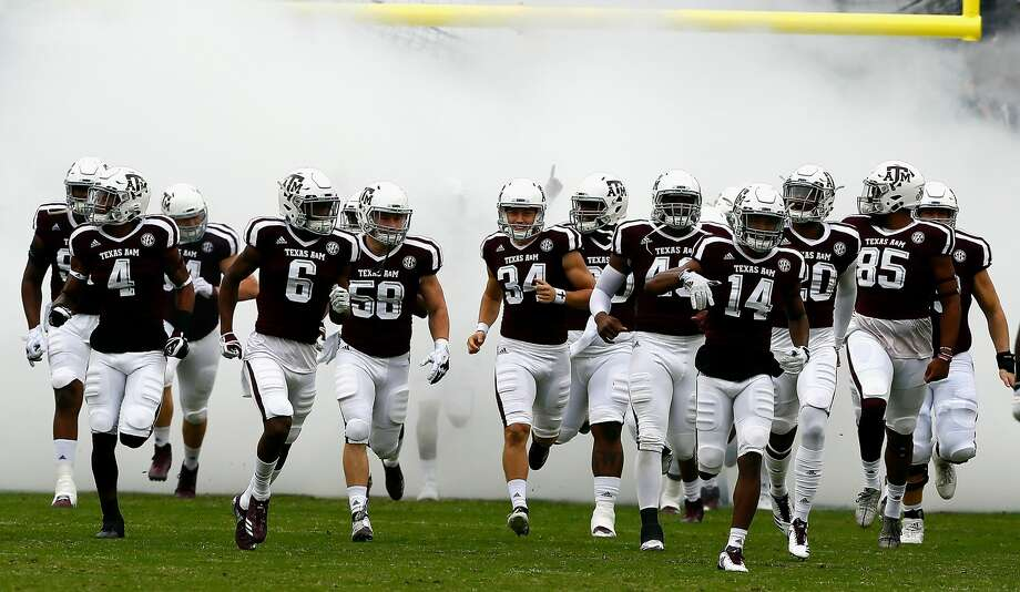 COLLEGE STATION, TX - NOVEMBER 04: Texas A&M Aggies take the field against the Auburn Tigers at Kyle Field on November 4, 2017 in College Station, Texas.  (Photo by Bob Levey/Getty Images) Photo: Bob Levey/Getty Images