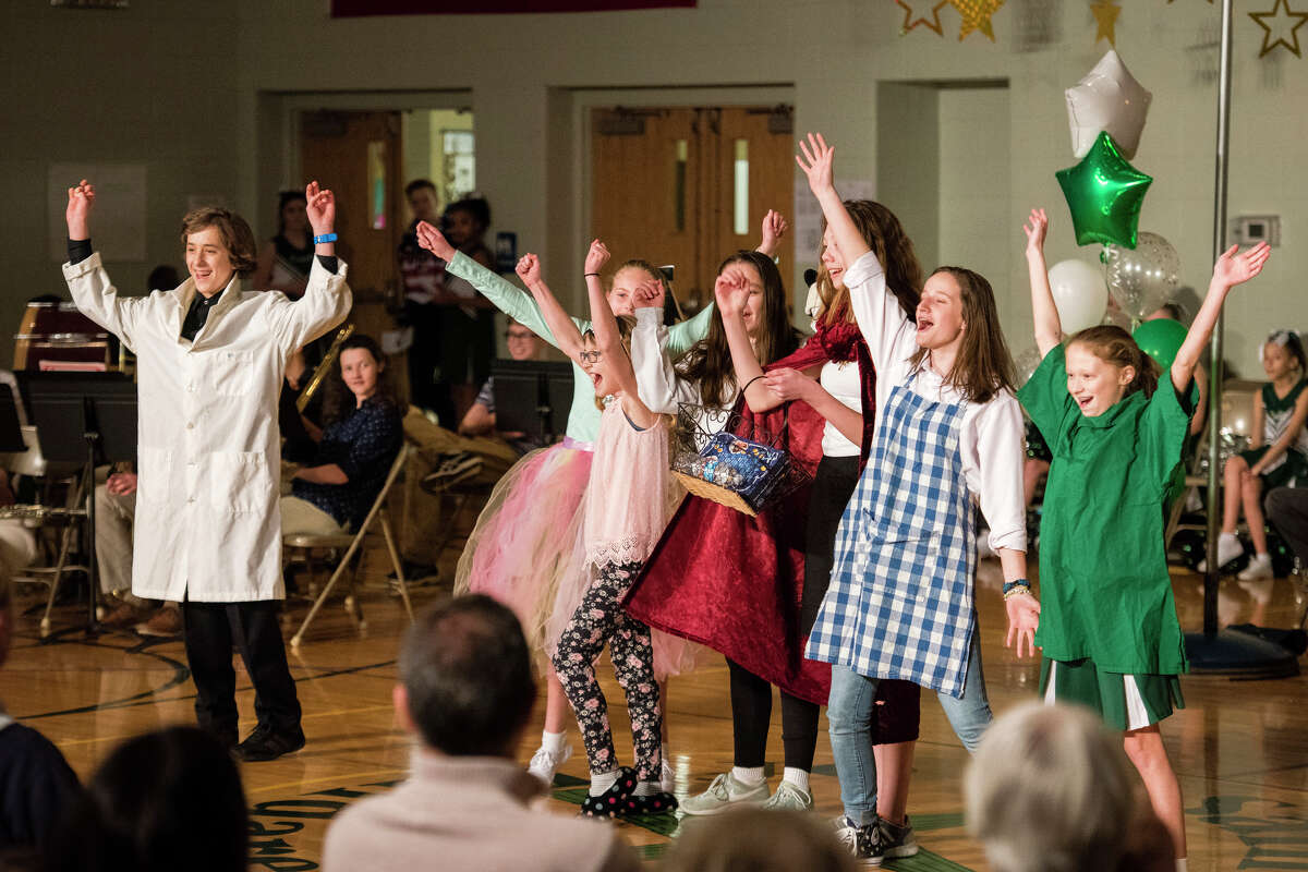 Students at St. Brigid Catholic School performed in a talent show on Tuesday, Jan. 30, 2018 as part of Catholic Schools Week. (Photo provided/Catholic Diocese of Saginaw)
