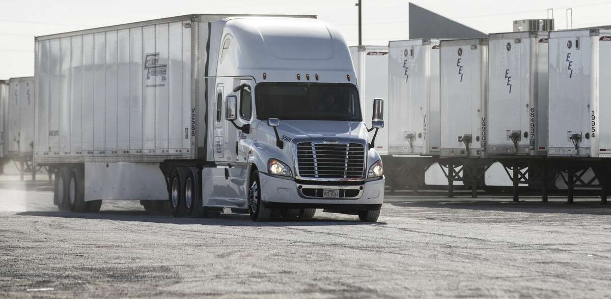A truck makes its way through the yard at Erives Enterprises on Friday, Feb. 2, 2018, in El Paso, Texas. ( Brett Coomer / Houston Chronicle )