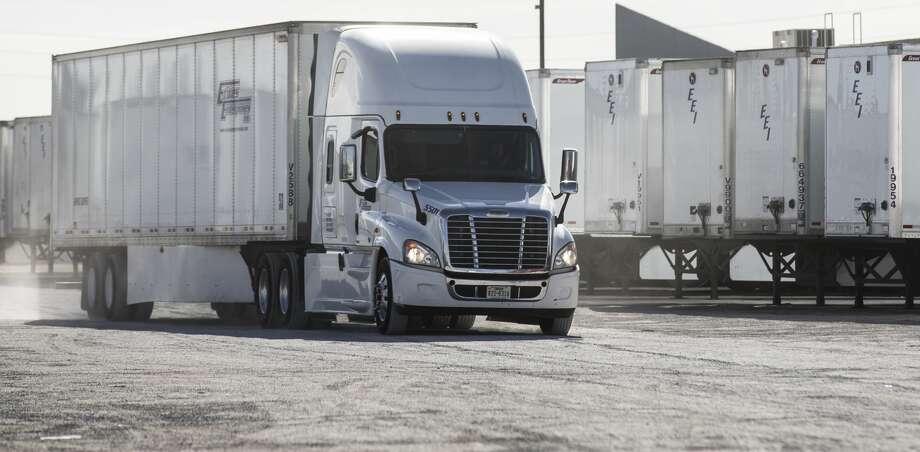 A truck makes its way through the yard at Erives Enterprises on Friday, Feb. 2, 2018, in El Paso, Texas. ( Brett Coomer / Houston Chronicle ) Photo: Brett Coomer/Houston Chronicle
