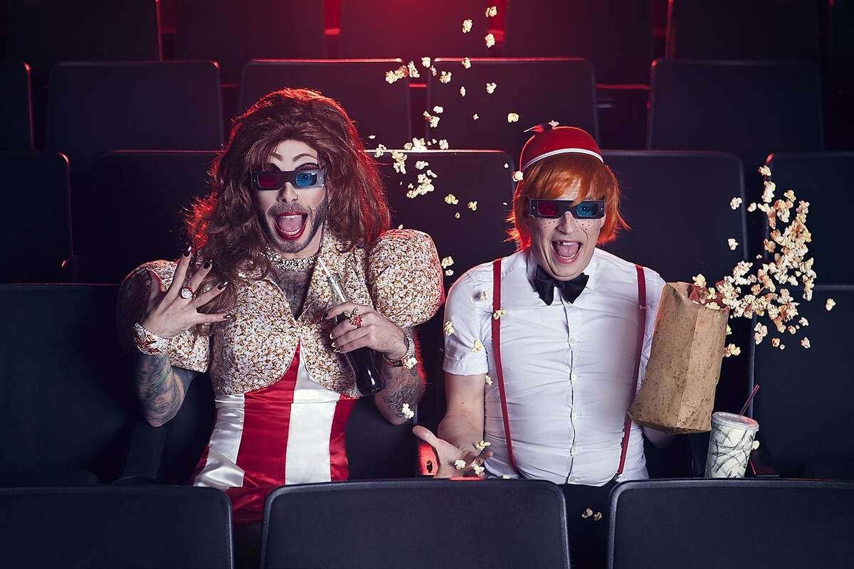 Veruca Bathsalts and Jerry Lee, the brains behind and hosts of a new Roxie Theater monthly series, Film School Dropouts. The series debuts with a live show and screening of