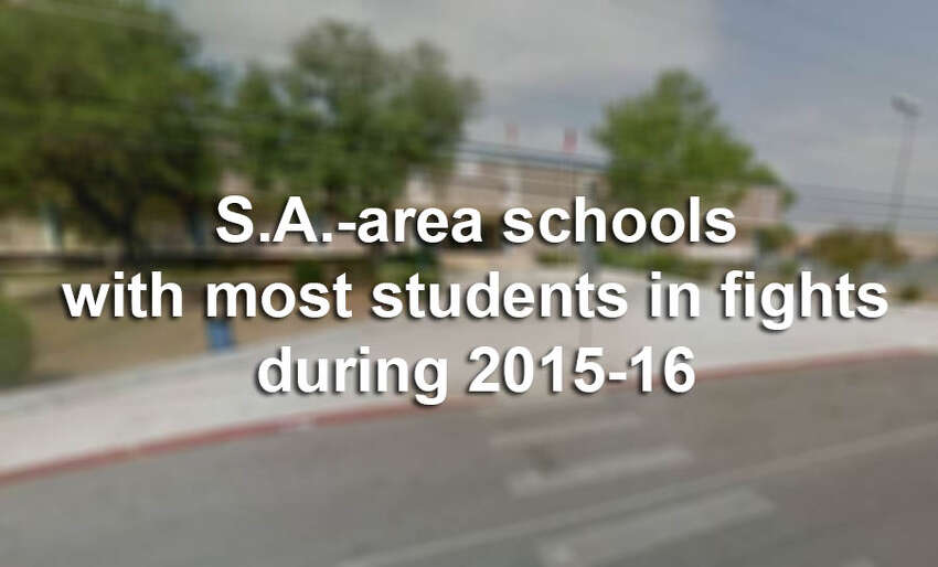 Click ahead to view the 25 San Antonio schools that had the most students involved in a fight in the 2015-2016 year, according to TEA data.