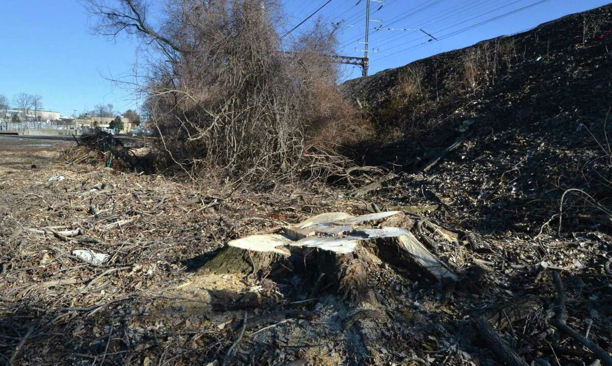One of the parcels of land at the city of Norwalk Public Works Department at 60 South Smith St. along the Merto-North Rairaod tracks has been aquired by the state as an easement for the Walk Bridge project to replace the rail bridge over the Norwalk River on Monday February 5, 2018 in Norwalk Conn.
