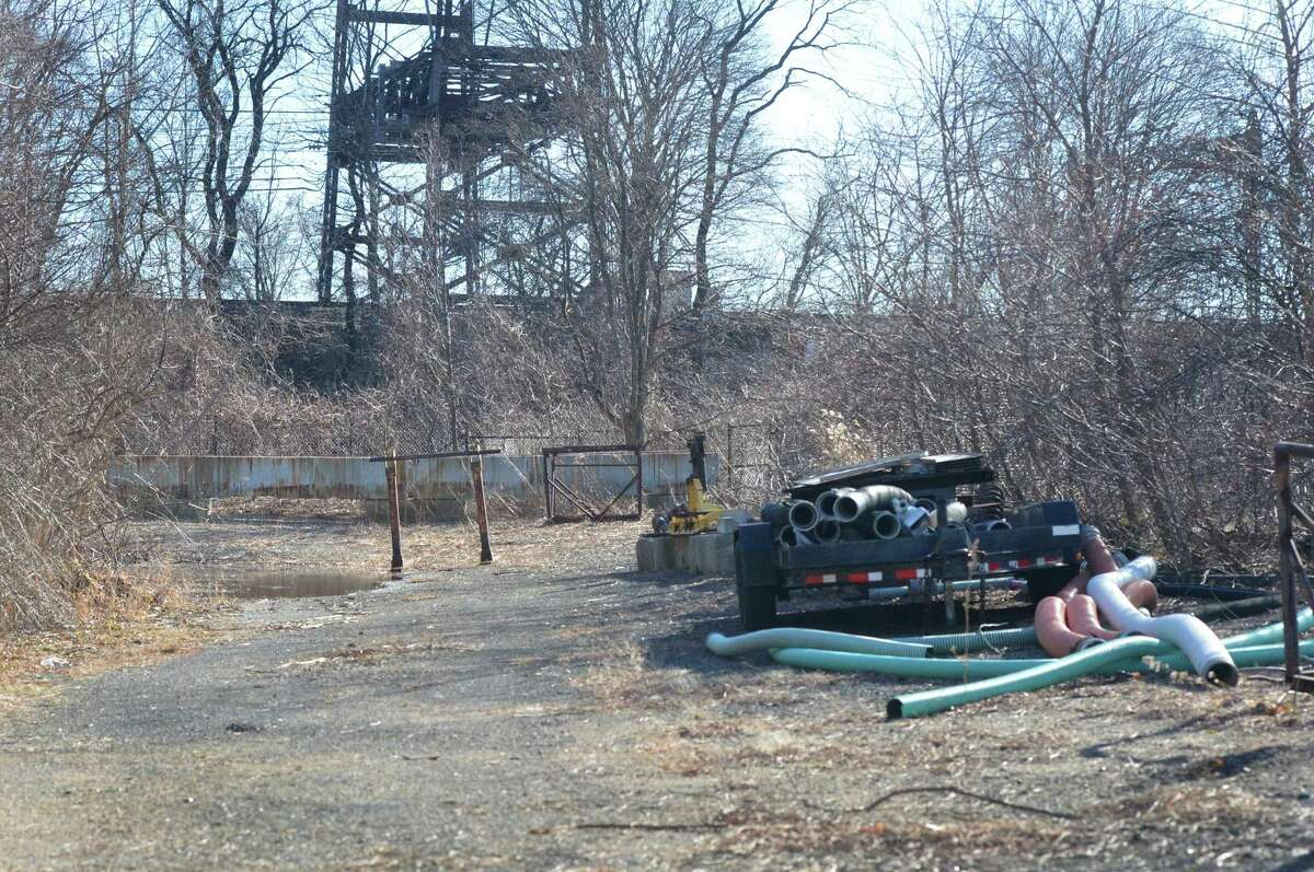 One of two parcels of land at the city of Norwalk Public Works Department at 60 South Smith St. along the Merto-North Rairaod tracks has been aquired by the state as an easement for the Walk Bridge project to replace the rail bridge over the Norwalk River on Monday February 5, 2018 in Norwalk Conn.