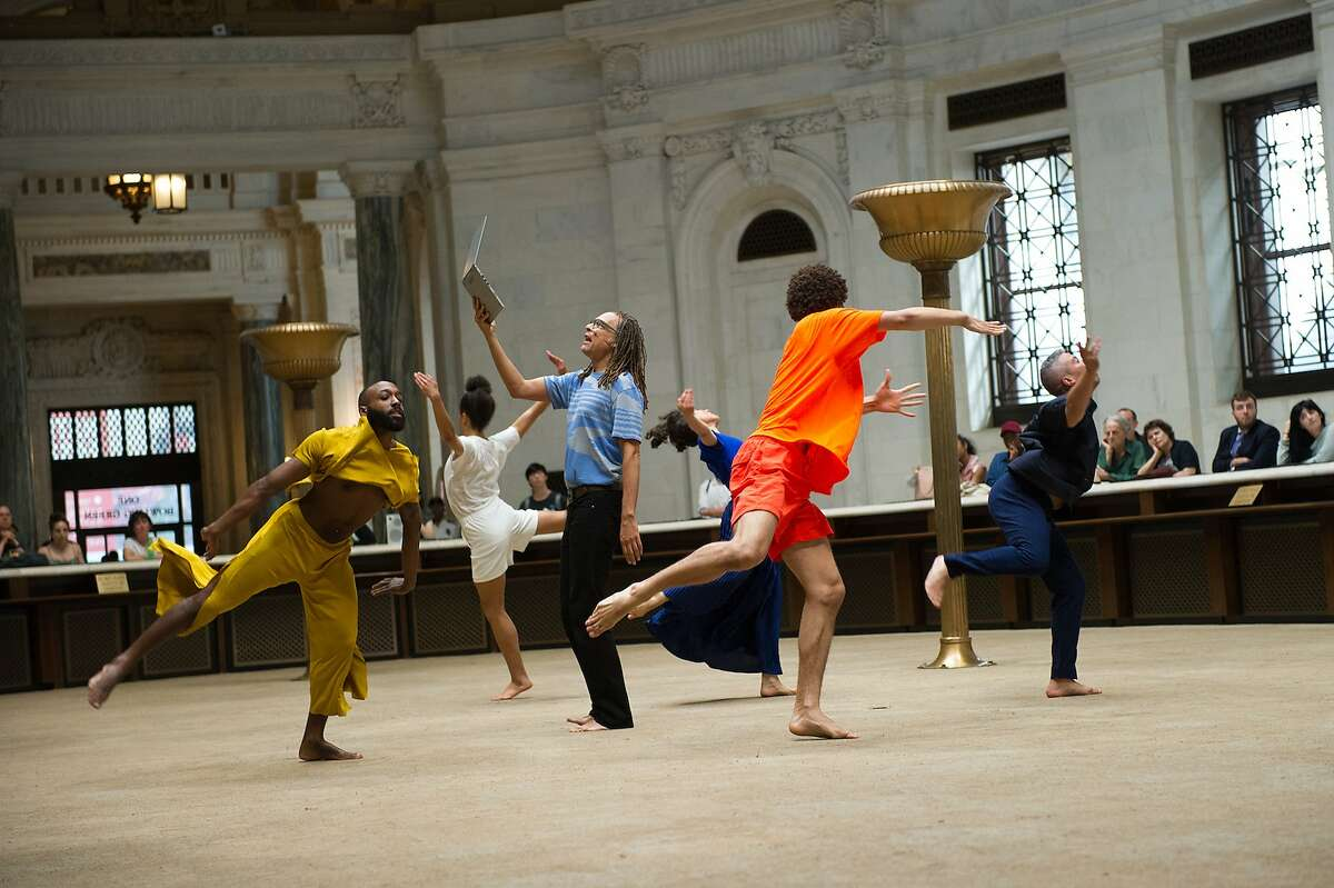Choreographer Netta Yerushalmy deconstructs Alvin Ailey in �Paramodernities #3: Revelations, the Afterlives of Slavery,� at ODC Theater. Photo: Paula Lobo
