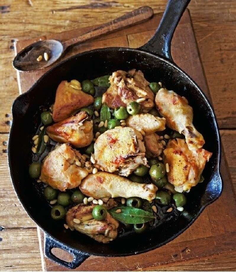 Lidia Bastianich's Chicken with Olives & Pine Nuts.