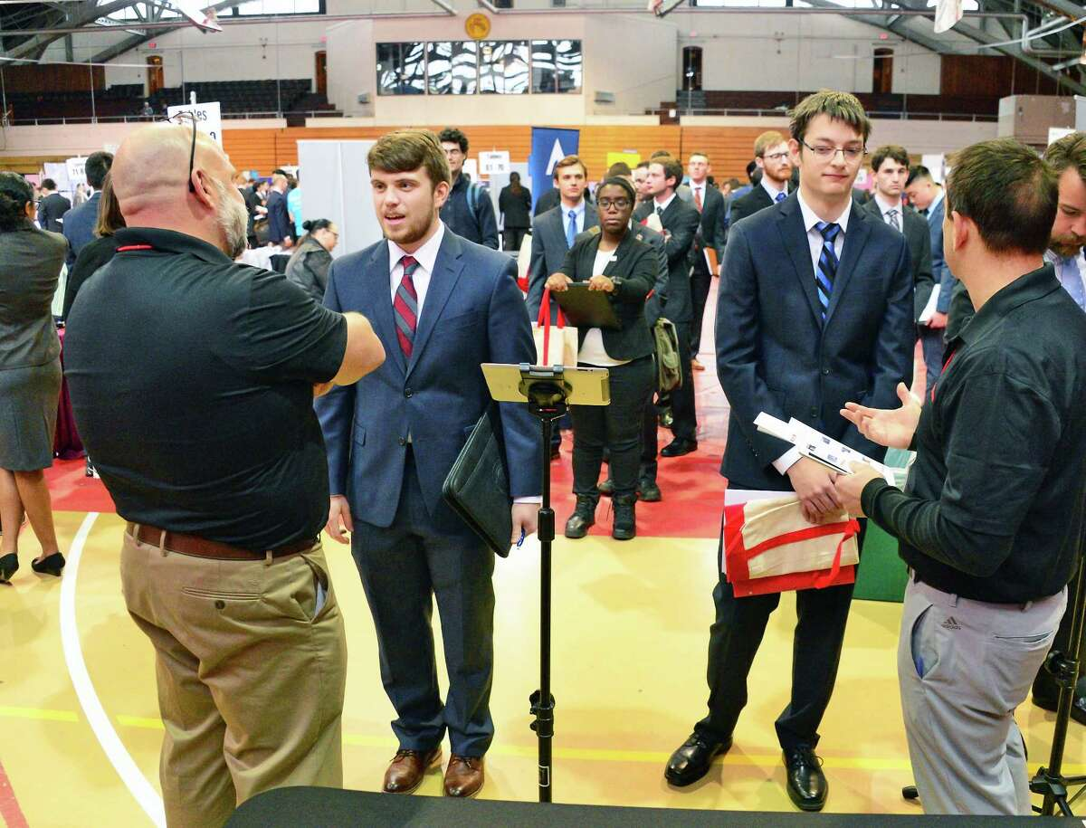 \ Rensselaer Polytechnic Institute Center for Career and Professional Development hosts its Spring Career Fair Wednesday Feb. 7, 2018 in Troy, NY. (John Carl D'Annibale/Times Union)