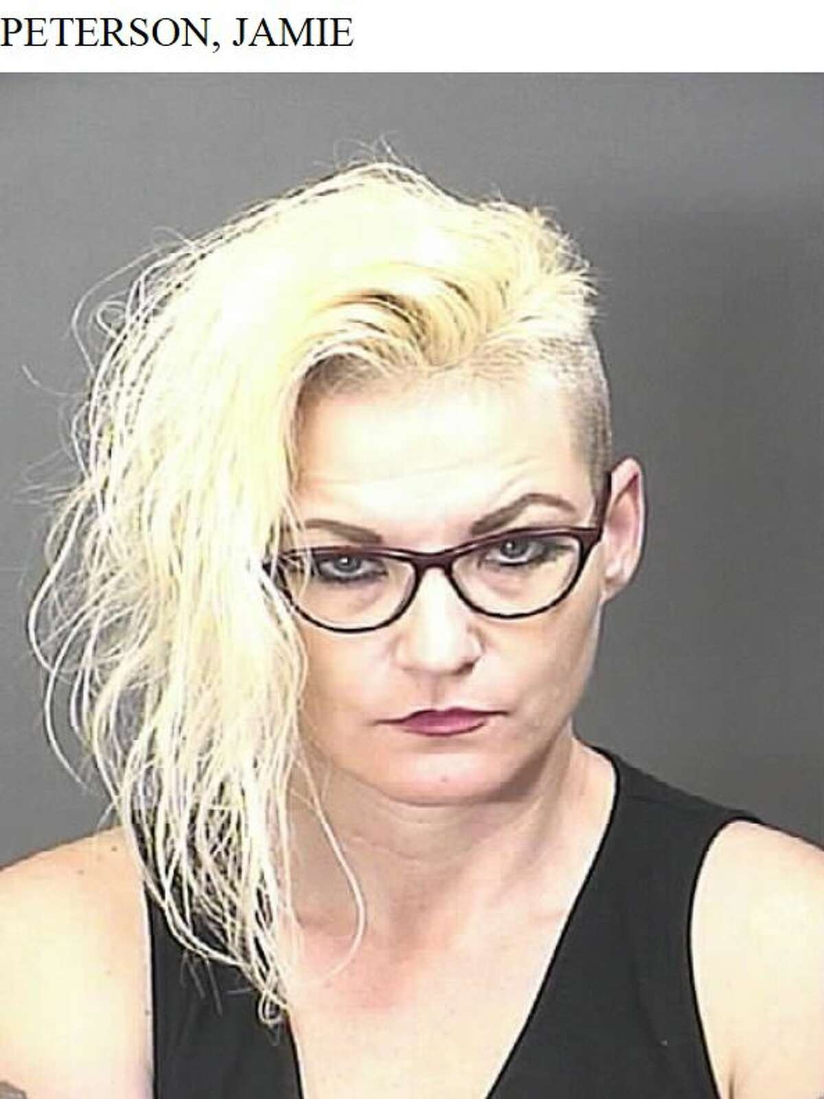 Jamie Peterson, 39, of Sugar Land is charged with felony possession of a controlled substance in lieu of a prostitution charge after a Feb. 6 prostitution sting at a Baytown hotel.