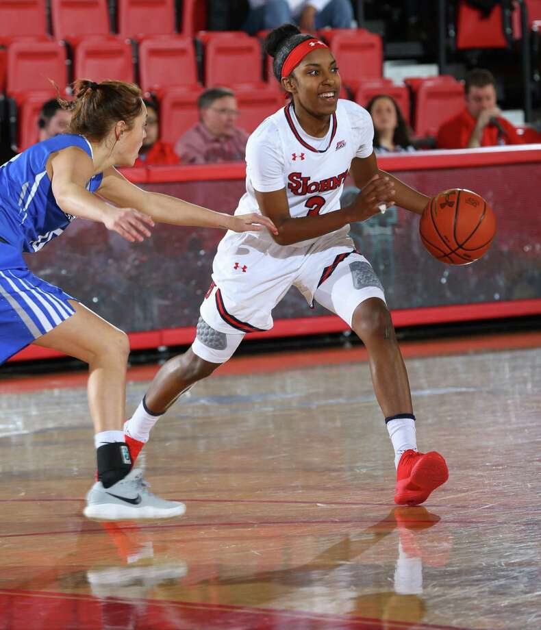 St. John's redshirt freshman Tiana England, a Stamford native, is averaging 9.8 points and 5.4 assists for the Storm. Photo: St. John's University Athletics / Contributed Photo / Stamford Advocate Contributed