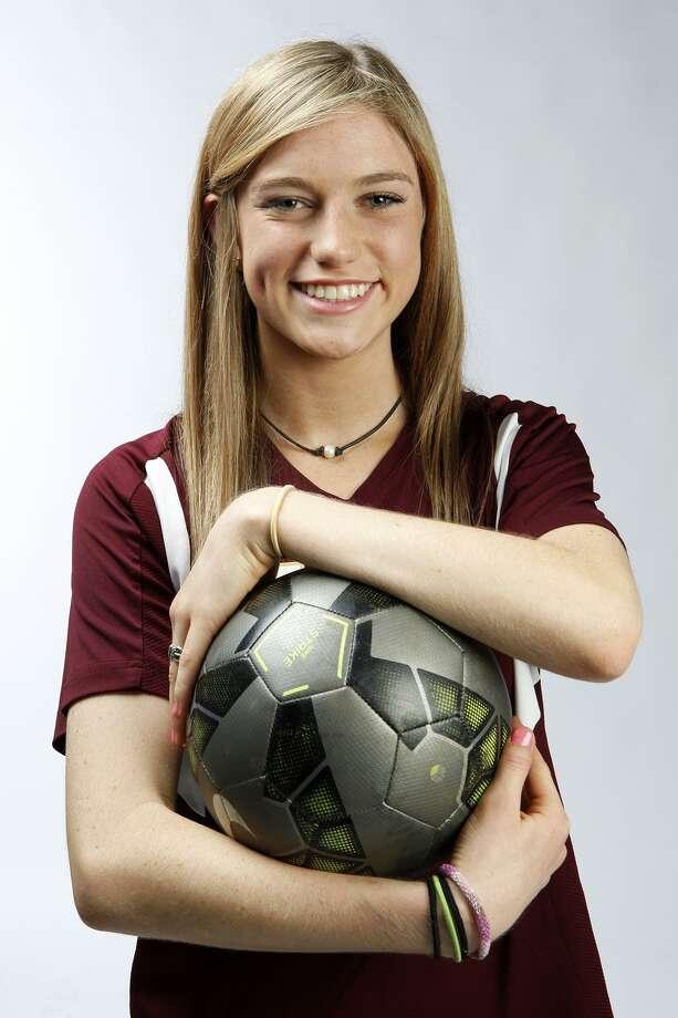Hallie Hausman of San Antonio Christian has been chosen for the 2015 Express-News All-Area soccer team. Photo: Cynthia Esparza, For The San Antonio Express-News / For The San Antonio Express-News / ©2015 San Antonio Express-News