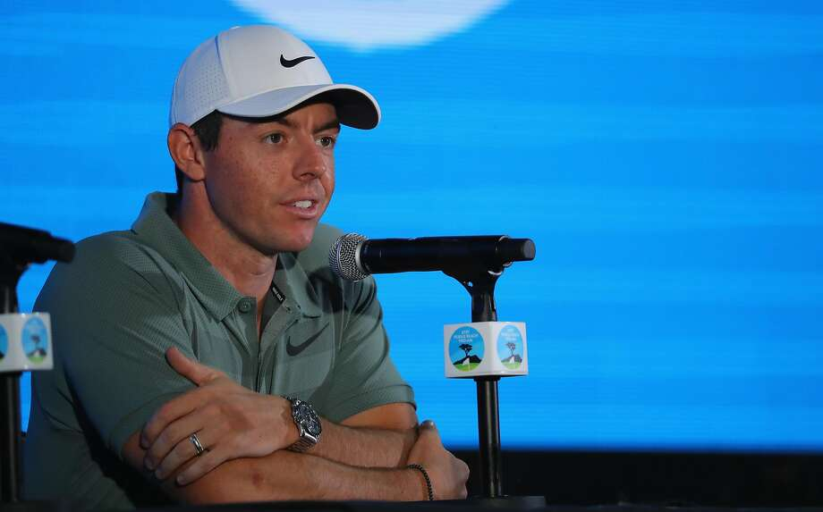PEBBLE BEACH, CA - FEBRUARY 07:  Rory McIlroy of Northern Ireland addresses a press conference ahead of the AT&T Pebble Beach Pro-Am on the Pebble Beach Golf Links on February 7, 2018 in Pebble Beach, California.  (Photo by Warren Little/Getty Images) Photo: Warren Little, Getty Images