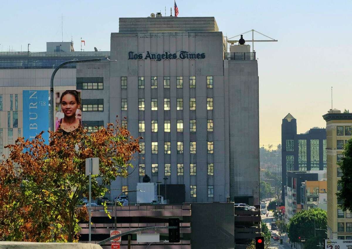 The Los Angeles Times building is seen in downtown Los Angeles on Wednesday, Feb. 7, 2018. Dr. Patrick Soon-Shiong, a biotech billionaire, struck a $500 million deal Wednesday to buy the Los Angeles Times, ending the paper's quarrelsome relationship with its Chicago-based corporate overseers and bringing it under local ownership for the first time in 18 years. (AP Photo/Richard Vogel)