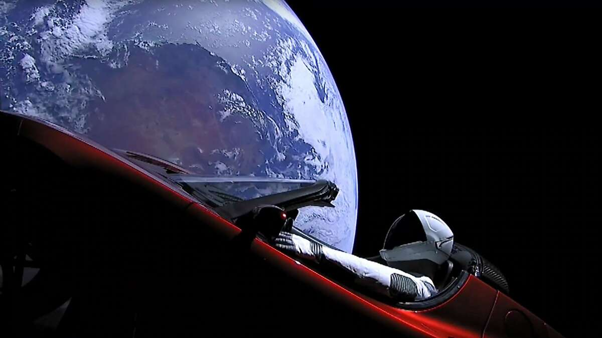 TOPSHOT - This still image taken from a SpaceX livestream video shows