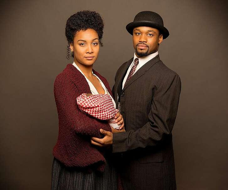"Marissa Rudd as Sarah and Dave J. Abrams as Coalhouse Walker Jr. in Berkeley Playhouse's ""Ragtime."""
