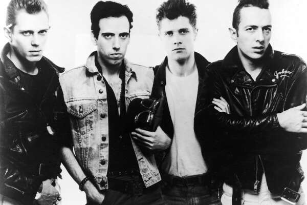 1983, Promotional portrait of British punk rock band The Clash. Left to right: Paul Simonon, Mick Jones, Pete Howard, and Joe Strummer (1952 - 2002). (Photo by Getty Images/Getty Images)