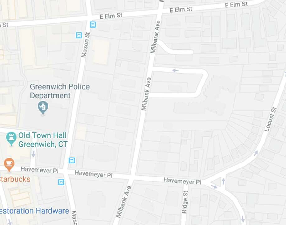 Greenwich police are investigating the death of a 70-year-old man who was struck and killed by a vehicle on Milbank Avenue between Elm Street and Havemeyer Place on Wednesday, February 7, 2018. Photo: Google Maps