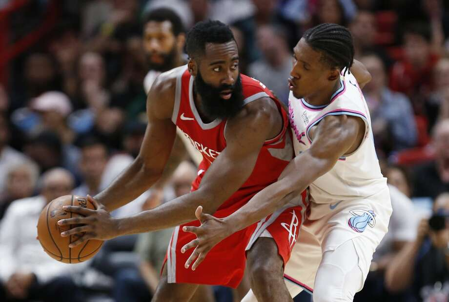 James Harden and the red-hot Rockets host Denver on Friday night at Toyota Center. Photo: Wilfredo Lee/Associated Press