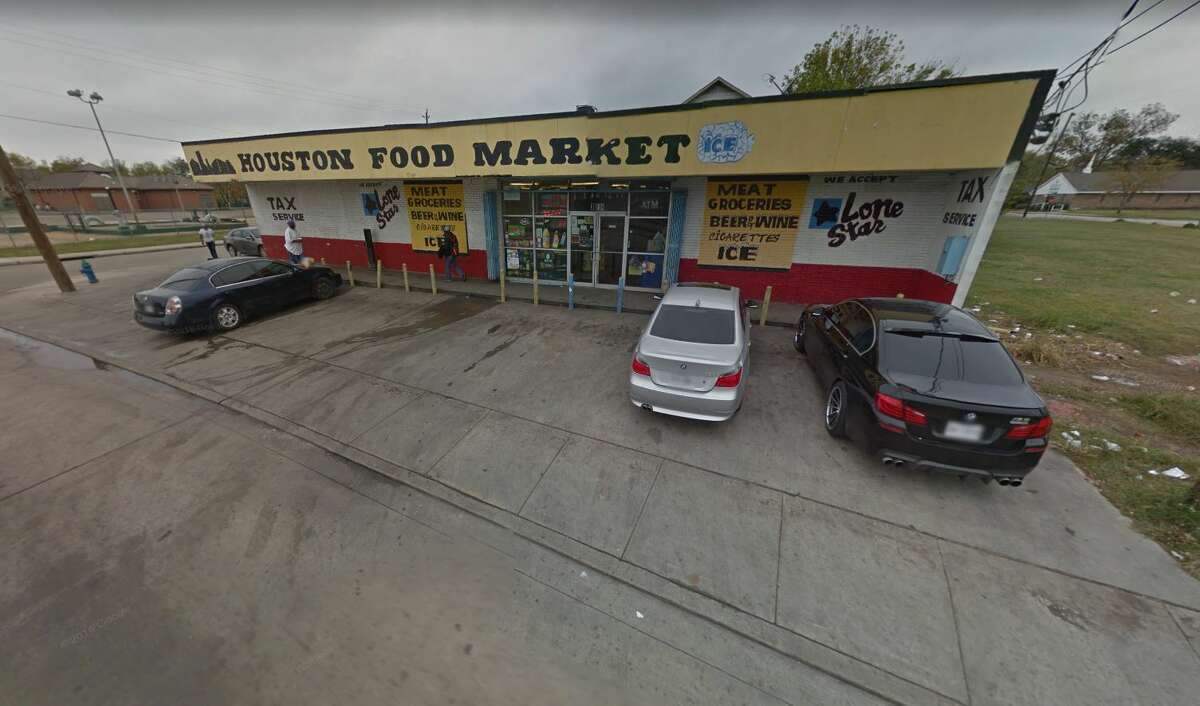 A man was shot several times outside a mini-mart blocks away from the University of Houston Wednesday evening.