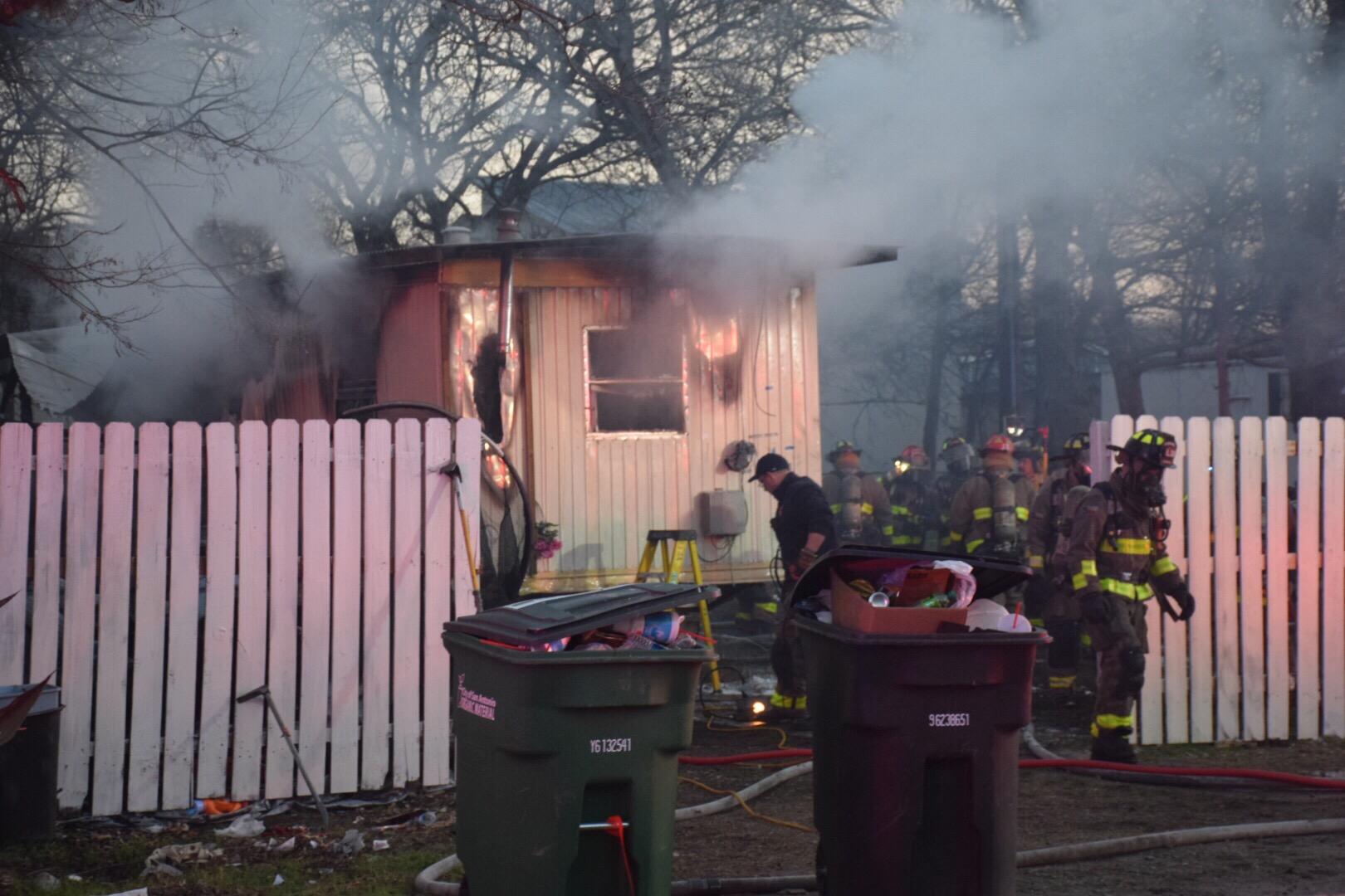 Fire Destroys Mobile Home San Antonio