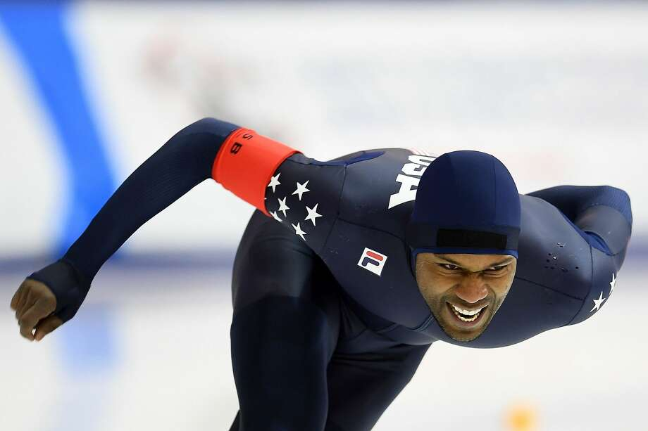 Four-time Olympic medalist Shani Davis, long track speedskating Davis is the most decorated male athlete in the Winter Olympics. He has two gold and two silver medals. Photo: Stacy Revere/Getty Images