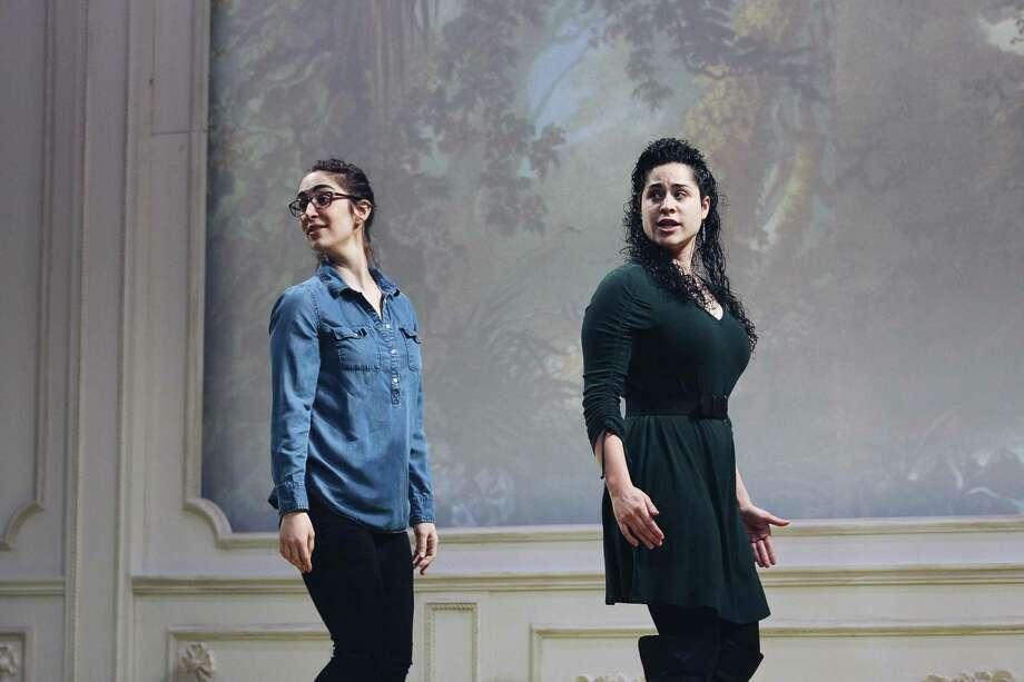 Mezzo-sopranos Rachel Weishoff, left, and Alexandra Urquiola. Photo: Yale Opera / Contributed Photo
