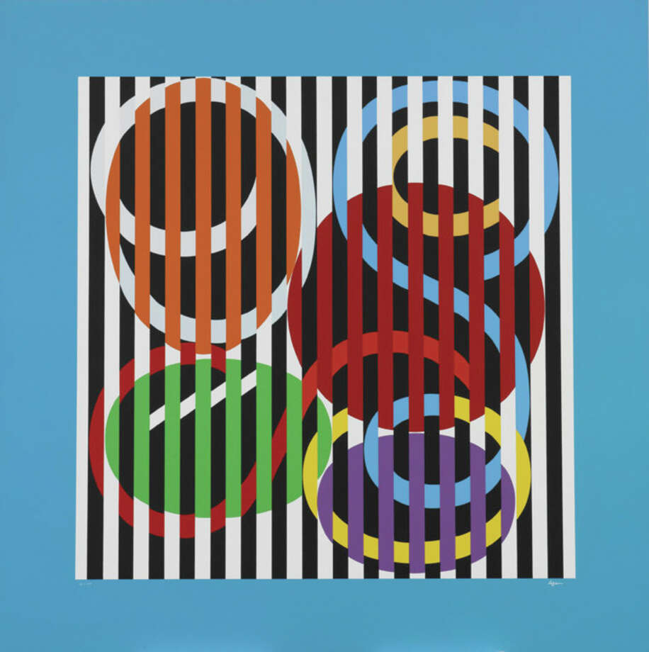 "Yaakov Agam, ""Forme Lignes,"" from the portfolio ""Suite 3"" (1974). Screenprint, 30 3/4 x 30 1/4"". Mildred Lane Kemper Art Museum, Washington University in St. Louis. Gift of Arthur and Sheila Prensky, 1984. Photo: For The Edge"