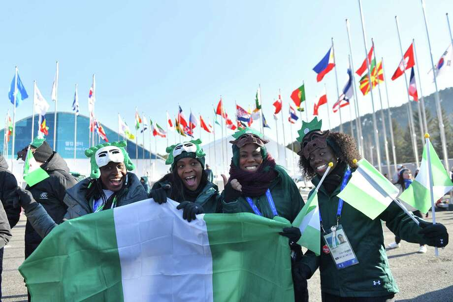 Image result for 24th Winter Olympic Games: Nigerian Bobsled team return to jubilant welcome