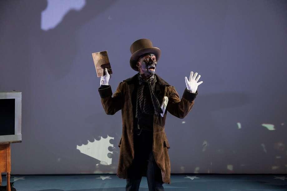 Frank Lawson plays Ben Vereen, who performed in blackface at Ronald Reagan's Inaugural Gala in 1981. Photo: Rafael Fernandez