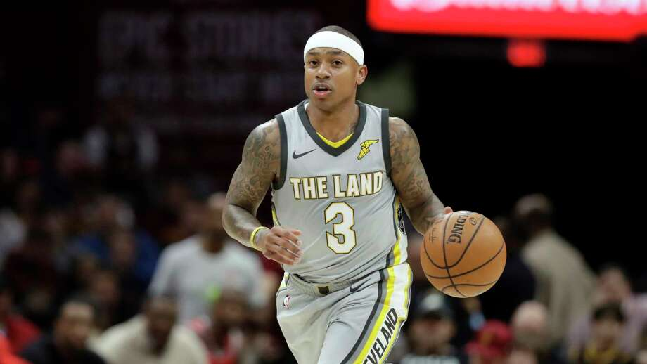 Cleveland Cavaliers' Isaiah Thomas drives against the Houston Rockets in the first half of an NBA basketball game, Saturday, Feb. 3, 2018, in Cleveland. (AP Photo/Tony Dejak) Photo: Tony Dejak, Associated Press / AP 2018