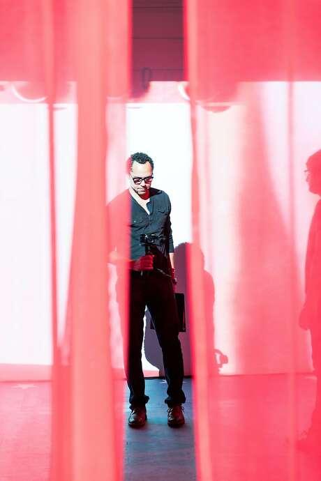 "Los Angeles visual artist Edgar Arceneaux directs ""Until, Until, Until ...,"" a multimedia installation and live play at YBCA. Photo: Rafael Hernandez"