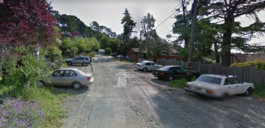 PANORAMIC WAY, BERKELEY -- BERKELEY FIRE TRAILSThe steep road right that climbs up behind Memorial Stadium dead ends on a street full of older houses many of which have sweeping SF Bay views and