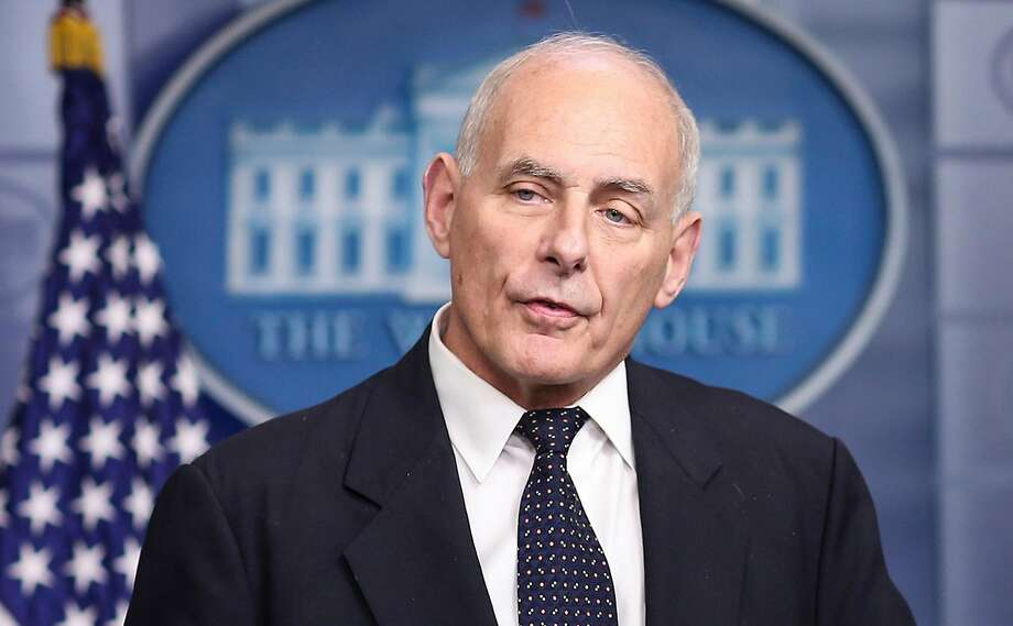 White House Chief of Staff John Kelly speaks to the media during the daily briefing in the Brady Press Briefing Room of the White House on October 19, 2017, in Washington, D.C. Photo: Olivier Contreras, TNS