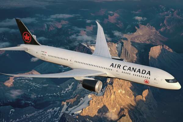 Air Canada's basic black, white and red livery